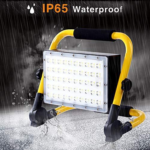 ALFLASH 50W 5000Lumens a mené le travail extérieur sans fil de lumière d'inondation portatif sans...