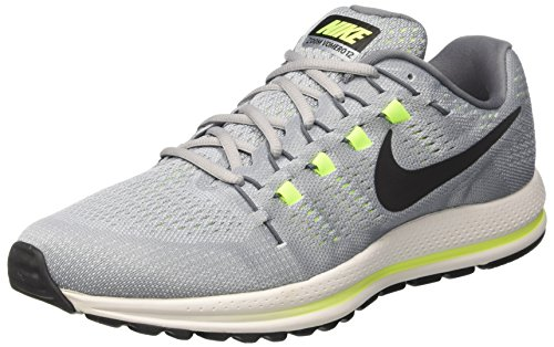 Nike Men's Air Zoom Vomero 12 Running Shoes, Grey (Wolf Grey/Cool Grey/Pure Platinum/Black), 5.5 UK 38.5 EU