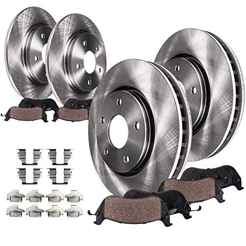 Detroit Axle - Front and Rear Disc Brake Kit Rotors w/Ceramic Pads w/Hardware