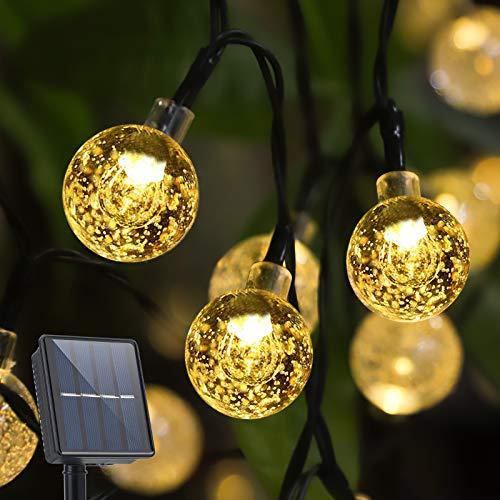 bedee Luces de Cuerda Solar 50 LED 7 Metros Luces solares de...