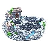 JIUYECAO Maceta de resina de hadas moderna para jardín en miniatura, para...
