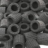 吸着系多機能リングろ材 MULTI RING(マルチリング)ブラック 約500mL(16個入)