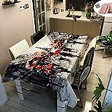 Rectangular Manteles de Mesa, Morbuy Impermeable Antimanchas Mantel Lavable Ciudad Arquitectura Impresión 3D Poliéster Manteles para Cocina Salón Comedor Decoración (Gris Eiffel,140x200cm)