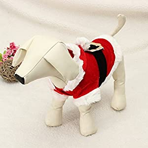 Bazaar Pet Puppy Dog Christmas Santa Claus Clothes Hoodie Outfit Outwear Coat