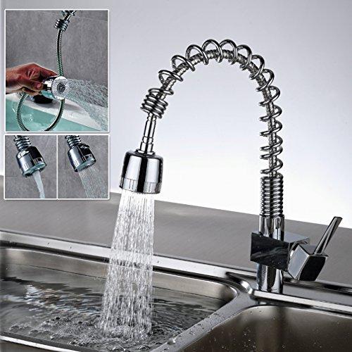 Auralum® 360°Rubinetto di lavabo con canna alta flessibile...