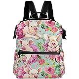 Oarencol - Mochila para escuela, diseño de cerdo, color rosa