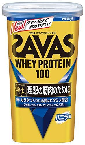 明治 ザバス(SAVAS) ホエイプロテイン100 バニラ味 14食分 1セット(3袋) 明治 プロテイン