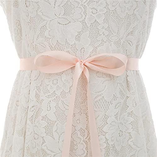Cinturón de cristal Cinturón de boda Cinturón de astilla Cinturones de flores de diamante Faja nupcial para vestidos de novia J134S-Baby Pink