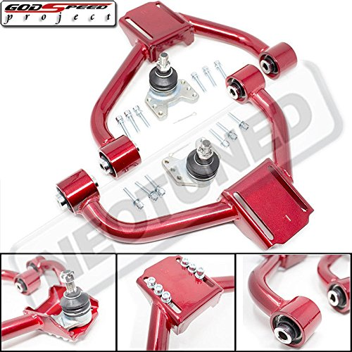 Godspeed ADJUSTABLE FRONT UPPER CAMBER ARMS WITH BALL JOINTS for GS300/GS400/GS430(S160) 1998-2005 Red