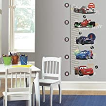 RoomMates INT1585GC Cars 2 Peel and Stick Metric Growth Chart Wall Decals