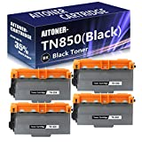 4 Pack (Black) TN850 High Yield Toner Cartridge Replacement for Brother L6250DW L6300DW DCP L5500DN L5600DN L5650DN MFC L6700DW L6750DW L5700DW L5800DW L5900DW L6800DW HL L6200DW/DWT L5000D Printers.