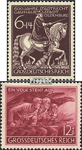Prophila Collection Deutsches Reich 907,908 (kompl.Ausg.) 1945 Oldenburg, Kriegsende (Briefmarken für Sammler) Militär