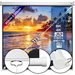 Mur de téléportation 203x203cm - en différentes tailles avec et sans trépied, montage simple, format 1:1, 4:3, 16:9, HD 4K 3D - Écran de projection, cinéma à domicile, écran de cinéma