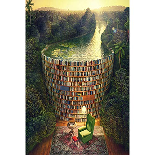 CSYY-YJ Bücherregal Abfluss Art Puzzle 500/1000/1500/2000/3000/4000/5000/6000 Pcs, Holzpuzzle Hauptdekoration, Lernspielzeug Spiele für Erwachsene und Kinder,1000PCS
