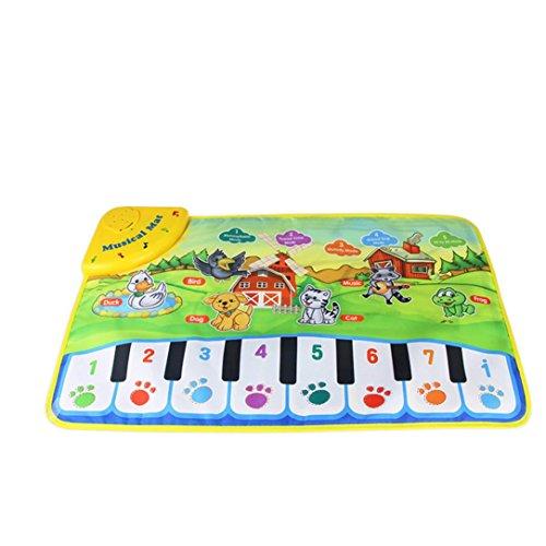 Jouets pour bébé,Transer®Chauds enfants jouet Animal Musical Touch Play chant tapis Mat meilleur cadeau