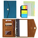 SynLiZy A5 PU Leather Personal Organizer Undated Planner 7.3' x 9.06' with 12 Accessories,Thick Paper,Refillable Loose Leaf