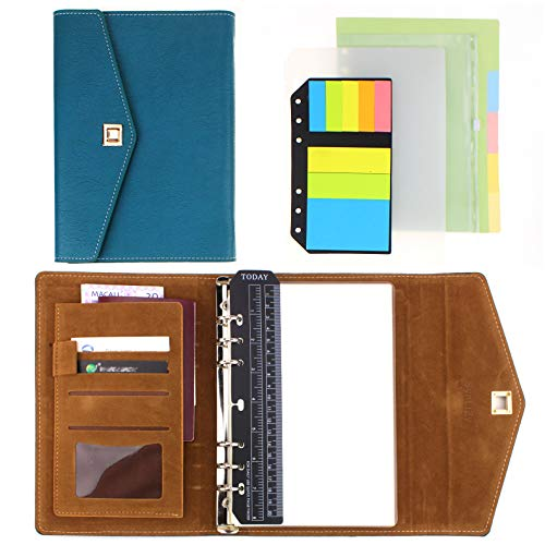 SynLiZy A5 Terminkalender Personal Organizer Planer Notizbuch Set mit 12 Zubehör 23x18,5x2,5 cm Dickes Papier(Dimension der Nachfüllseiten:21x14 cm) Nachfüllbar Loseblatt