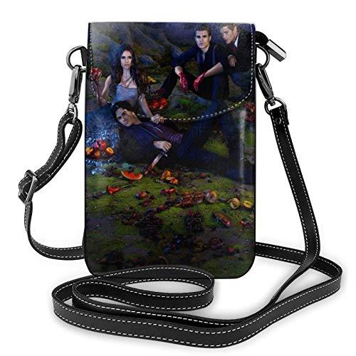 XCNGG Kleine Geldbörse Vampire Diaries Crossbody Bags for Women's Crossbody Handbags Cell Phone Purse Waterproof Leather Handbags Small Wallet