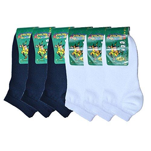 Fontana Calze, 6 paia di calze bimbo in cotone Filo di Scozia elasticizzato modello pariscarpa. ASSORTITO 22/25
