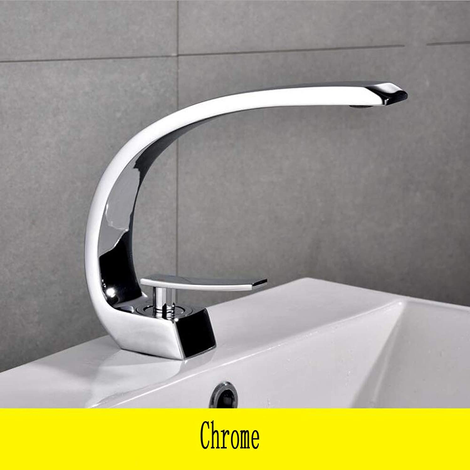 Black Large curved Hot And Cold Water Basin Faucet Modern Design Plating Bathroom Sink MixerTap Brass,Chrome,TypeC