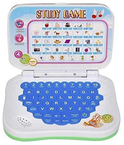 BabyBaba Educational Laptop Sound Toy for Kids (Multicolour)