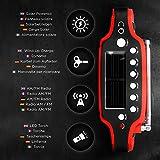 Duronic Apex Radio AM/FM, wiederaufladbar – Solarradio – Kurbelradio – Solarenergie, Handkurbel und USB-Ladegerät – mit Radiowecker und Taschenlampe - 4