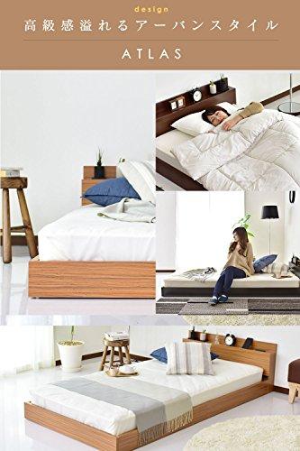 『DORIS ベッド ベッドフレーム シングル ロータイプ 組立式 コンセント付 ブラック アトラス』の4枚目の画像