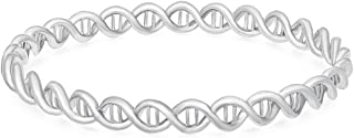 NOUMANDA Double Helix 3color Silver and Gold DNA Bracelet Jewelry for Women