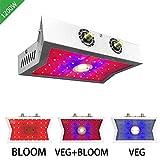 LED wachsen Licht Vollspektrum Pflanzenwachstumslicht Cob einstellbar Rot blau leuchtet mit 3 stück uv & ir,Gemüse/Blüte Doppelschalter Für die Pflanzung von Zimmerpflanzen im Keller