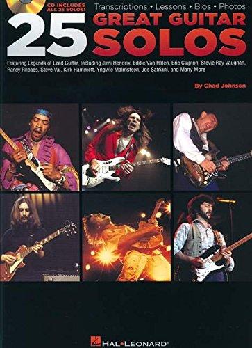 Chad Johnson: 25 Great Guitar Solos: Lehrmaterial, CD für Gitarre