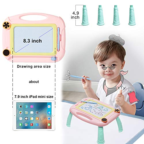 Matesy Toddler Toys for 1-2 Year Old Girls, Boys Gifts, Magnetic Drawing Board for Kids Girls Age 1 2 3 Year Old Girl Birthday Gifts, Doodle Board Drawing Pad for Toddler Girls Toys Age 1-2-4