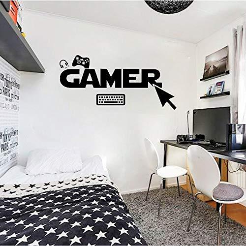 yaonuli Gamer Muurtattoos, op maat gemaakte slaapkamer, vinyl muurstickers voor kinderen
