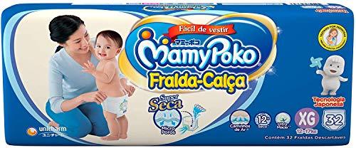MamyPoko Fralda-Calça, Tamanho XG (12-17 Kg), Pacote com 32 Unidades