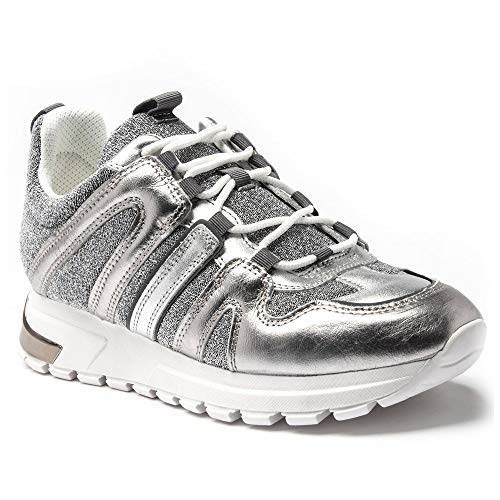 DKNY May Lace Up Damen Sneaker Silber 39 EU