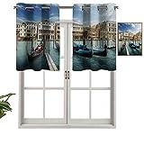 Góndolas opacas de alta calidad con ojales en la laguna adriática veneciana histórica Venezia, juego de 2, paneles opacos decorativos para el hogar para dormitorio de 137 x 61 cm