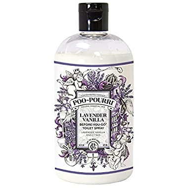 Poo-Pourri PP016-TST Before-You-Go Toilet Spray 16-Ounce Refill Bottle, Lavender Vanilla Scent