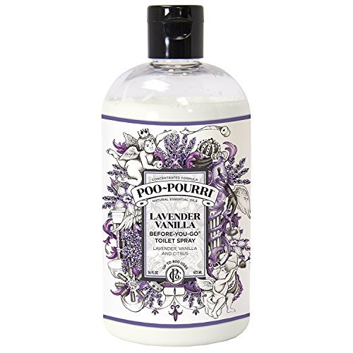 Poo-Pourri Before-You-Go 16 Ounce Refill Bottle, Lavender Vanilla