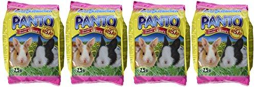 Panto Zwergkaninchenfutter 2.5 kg, 4er Pack (4 x 2.5 kg) - 4