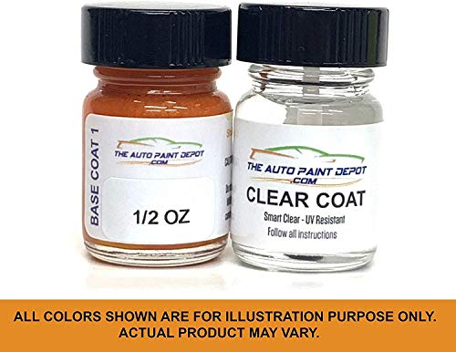 Auto Paint Depot Touch Up Paint for Honda Accord, Civic, Clarity, Crosstour, CRV, FCX, Fit, HRV, Insight, Odyssey, Ridgeline-Modern Steel Metallic NH-797M (All Years) Half Ounce with Clear Coat