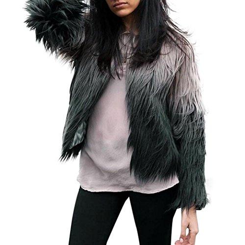 VJGOAL Damen Jacke, Frauen Weste Mode Mädchen Langarm Oberbekleidung Hipster Dicke Warme Winterjacke (XL, Grau)