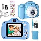 Macchina Fotografica Bambini Giocattoli Regalo per Ragazzi Ragazze 3-10 Anni,Videocamera Digitale Fotocamera per Bambini,Schermo HD da 2 Pollici 1080P,32 GB TF Card