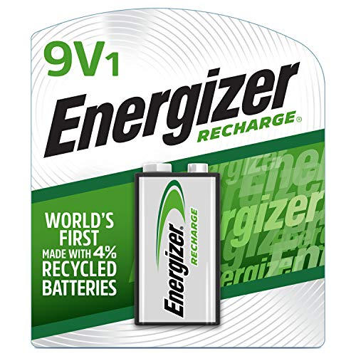 Energizer Rechargeable 9V Batteries, NiMH, 175 mAh, Pre Charged, 1 Count (Recharge Universal) Packaging May Vary