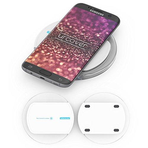 Urcover Estación de Carga rápida Inalámbrica de Inducción, Cargador Universal Qi, Docking Station Receptor Qi Integrado Smartphone Magic Disk