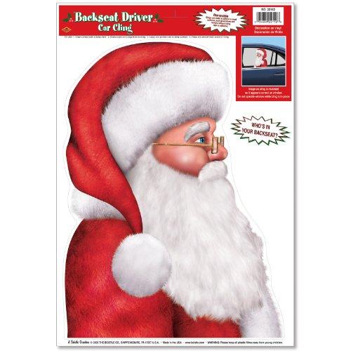 Accessoire de fête pour siège arrière de voiture Motif Père Noël