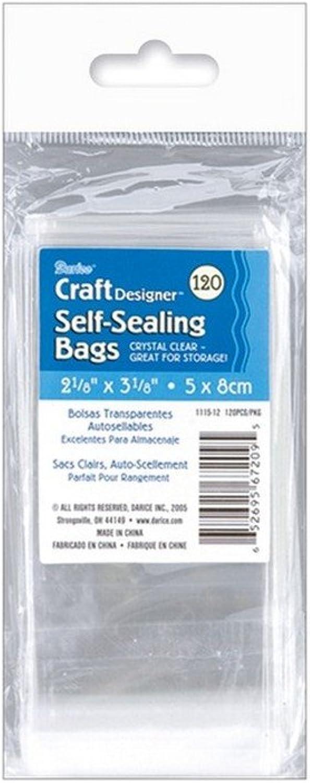 5,4x 7,9cm 120 Pkg–selbstdichtend Transparente Taschen