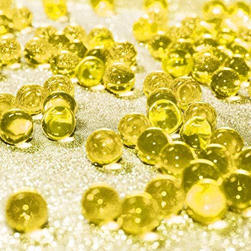 Eyscoco Wasserperlen, 10000 Stück Vase Füller Perlen Edelsteine Wassergel Perlen Wachsende Kristallperlen Hochzeit Herzstück Dekoration (Gelb)