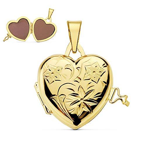 Colgante de mujer Portafotos (guardapelo) Corazón Oro 18 Kilates 20 MM