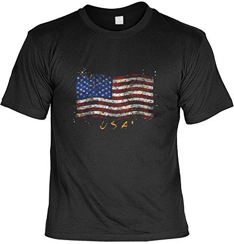 USA T-Shirt: Stars & Stripes Fb schwarz Größe M