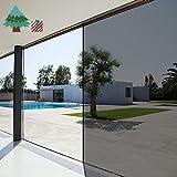 Life Tree Película Pegatina Electroestática de Vinilo PVC para Privacidad de Ventanas y Cristal Efecto Espejo Cristal Tintado