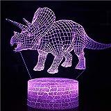 Cartoon niedlichen alten Tierdinosaurier Park Tyrannosaurus Rex Monster Dragon Tischlampe 3D LED Nachtlicht Kinder Geschenk Raumdekoration